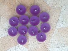 PARTYLITE - 36 SPARKLING AMETHYST TEALIGHT CANDLES