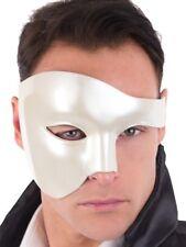 Maestro Shiny Cream Mens Masquerade Mask Costume Mask