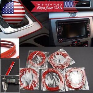 5 x 9' Red Molding Stripe Trim Line For Honda Acura Console Dashboard Spoiler