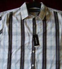 2 Shirts: Urban Spirit - White/Brown Shirt - Short Sleeve - Large - Checkered