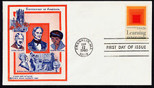 1833 Education in America, Learning Never Ends, FDC Doris Gold Cachet