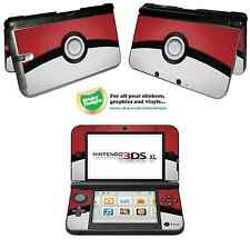 Pokémon pokeball vinyle peau sticker pour Nintendo 3DS XL