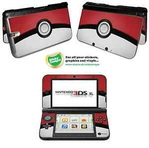 Pokémon Pokeball Vinyl Skin Sticker for Nintendo 3DS XL