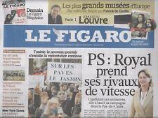 LE FIGARO N°20674 21/01/2011  S.ROYAL_TUNISIE_PATRIMOINE FRANCAIS_CELINE_BOURSE