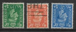 Great Britain 1941 definitives wmk inverted SC 258,261-2, SG 485,488-9 used