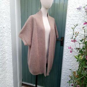 Hobbs Chunky Longline Edge To Edge Cardigan Wool/Angora Size 14