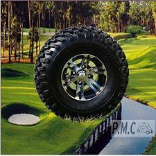 10x7 Machined / Black Golf Cart Tire / wheel Set of (4) Club Car & EZGO 22x11x10