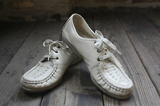 Vintage~Softspots~Leather~Shoes~9~Narrow Width~Ivory~Oxfords