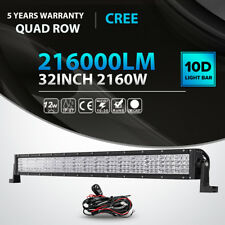 "2160W 32""INCH LED LIGHT BAR SPOT FLOOD COMBO Quad ROW OFFROAD ATV SUV 42"""