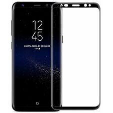 3d 9h Samsung Galaxy s9 tempered display curved lámina de vidrio negro