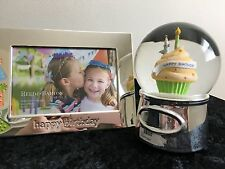 Reed & Barton Lenox Let'S Celebrate Happy Birthday Gift Waterglobe Frame Engrave