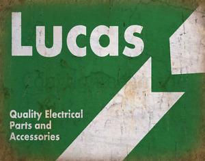 LUCAS CAR PARTS VINTAGE GARAGE METAL TIN SIGN POSTER WALL PLAQUE