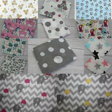 Lovely Super Soft Printed Muslin Squares 70x80cm made in EU 100% Natural COTTON
