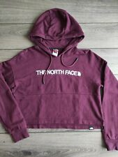 New listing Ladies The North Face Purple Cropped Top Pullover Hoodie Sweatshirt Size M