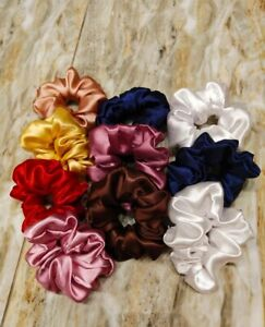 Silk/satine Multicolor Scrunchie Elastic Handmade Hair Band