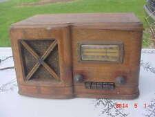 Vintage 1939 Sears Catalog Silvertone 7251 Vacuum Tube Radio Wood Case Art Deco