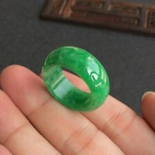 Mens Chinese Green Jadeite Jade Ring Band Real Genuine Grade A Size 8, 9, 10