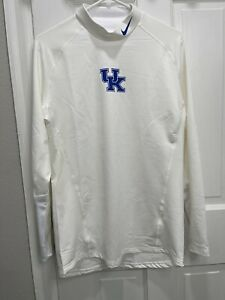 Nike Kentucky Wildcats TEAM ISSUED Mock Neck Compression Shirt White Men's 3XL