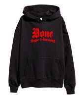 Bone Thugs N Harmony Red Logo Hoodie Hip Hop Rap Hooded Sweatshirt merch Black