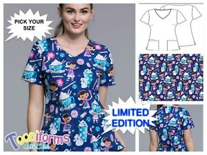 New Women's Disney TF614 V-Neck Top In Cocoa Cuddles Available in size XS-XL