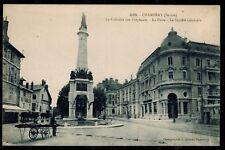Cpa Chambéry - la colonne des éléphants la poste la Société Générale rp0792