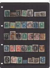 Brazil page of early stamps including pairs