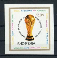 ALBANIEN Bl.51B ** FUSSBALL-WM 1974 UNGEZÄHNT ME 26,-++ !!! (129437)