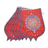 8Pcs Ramadan Mubarak Arabic Bunting Islamic Celebration Banner Flag Decoration