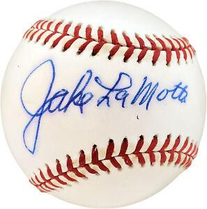 Jake LaMotta Autographed Signed AL Baseball Raging Bull PSA/DNA #F15413