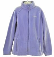 COLUMBIA Girls Fleece Jacket 14-15 Years Large Purple Polyester  MA11