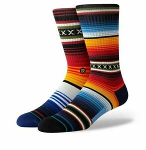 STANCE CURREN SOCKS.NEW RED ARCH SUPPORT CUSHIONED CALF SIZE UK 6 - 16 PATTERNED