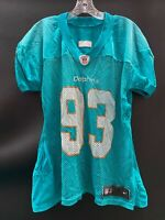 #93 MIAMI DOLPHINS GAME USED AQUA NIKE PRACTICE JERSEY SIZE-56
