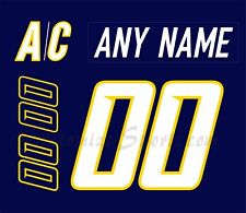 Nashville Predators Customized Number Kit for 2007-2011 Navy Jersey