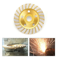 5'' Diamond Segment Grinding Wheel Disc Cup Marble Concrete Granite Stone 5 Hole