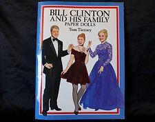 Tom Tierney Paper Dolls Bill Clinton Hillary Chelsea 1994