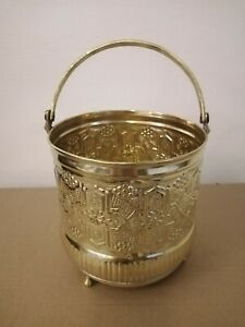 Bucket for Moroccan Bathroom Brass copper handmade authentic size small Fez