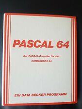Pascal 64 (Data Becker) Commodore c64 disquete (disquete + Manual)