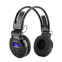 Quelima Foldable LED  Sports Wireless Headset FM Radio Headphone TF Card