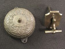 Antique c. 1874 CONNELL'S PATENT Brass Door Bell + Striking Lever Working RING!
