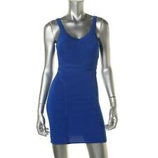 XOXO 7084 Womens Blue Knit Mini Bodycon Clubwear Dress M BHFO