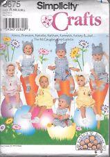 UNCUT sewing pattern Simplicity 8675 sunsuits hat baby infant NB-L bonnet easter