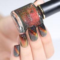 BORN PRETTY Holographicss Chameleon Cat Eye Nail Polish  Black Base Needed