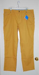 """NWT Columbia Men's Mustard Yellow Bridge to Bluff Pants sz 44""""W x 34""""L"""