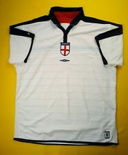 4.5/5 England soccer jersey 2Xl 2003 2005 home shirt football Umbro ig93