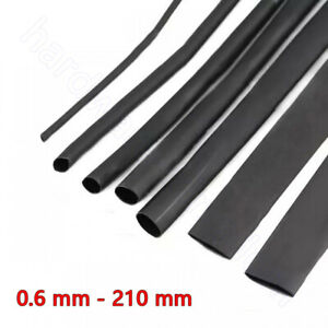 Heat Shrink 2:1 Heatshrink Tube Cable Wire Electrical Sleeving 0.6 mm - 210 mm