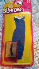 Barbie Best Buy fashions blue maxi dress with silver touches #1472 1980 NEW