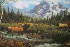 """FRANK D MILLER, """"Winner Takes All"""" Elk print"""
