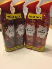 4 Bottles Limited Edition Febreze Air Freshener (2) Apple And (2) Cranberry.