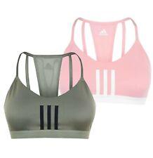 Ladies Adidas Plus Size Sportswear Training 3 Stripe Mesh Bra Sizes from 8 to 22