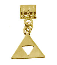 Zelda Breath of the Wild 24K Gold Plated Bead Charm Triforce of The Golden Power